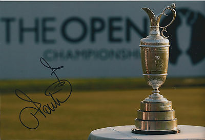 Ian POULTER In Person SIGNED Autograph 12x8 Photo AFTAL COA Open Trophy RARE