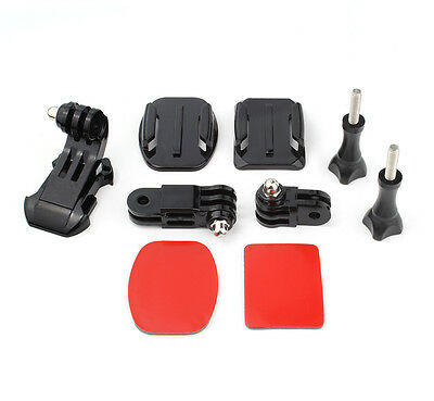 Helmet Front Adhesive Mount Bracket J-Hook Buckle for GoPro Hero 7 6 5 4 3+ 3 2