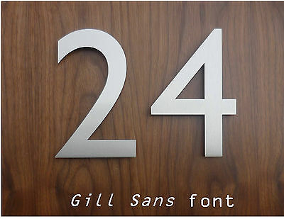 Modern brushed Stainless Steel House Numbers/Numerals - FAST, FREE DELIVERY