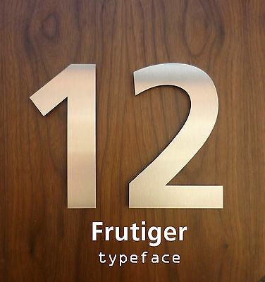Large Modern brushed Stainless Steel House Numbers/Numerals FAST, FREE DELIVERY