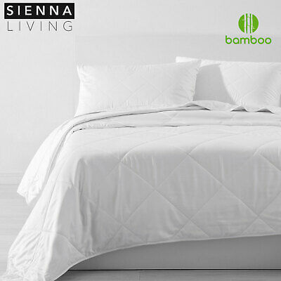 NEW Bamboo Quilt / Doona 200 gsm Fill Cotton Cover Summer Weight Chemical Free