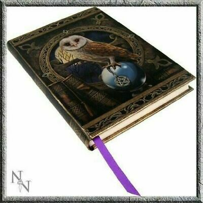 Hard Cover Journal by UK Designer Lisa Parker Midnight Owl Witchcraft Pentagram