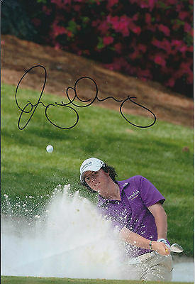 Rory McILROY SIGNED AUTOGRAPH 12x8 Photo AFTAL COA Ryder Cup Winner