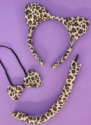 Job Lot Wholesale 10X Leopard Sets Fancy Dress Up Set Collar Tail Ears Hen Night