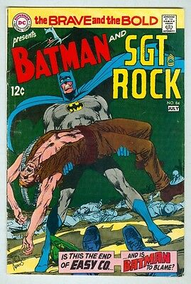Brave and the Bold #84 July 1969 VG Neal Adams Cover and Art, Sgt. Rock