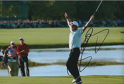 Paul McGINLEY SIGNED AUTOGRAPH 12x8 Photo AFTAL COA Ryder Cup 2002 Winning PUTT