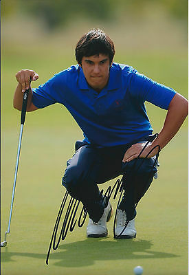 Matteo MANASSERO SIGNED Autograph 12x8 Photo AFTAL COA Dunhill Links GOLF