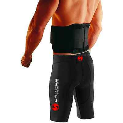 Neoprene Double Pull Magnetic Lumbar Support Lower Back Belt Brace - Pain Relief