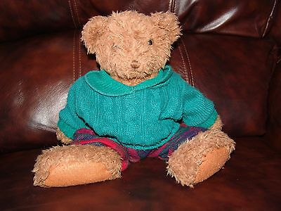 """Russ Berrie and Company Holly the Teddy Bear w/ Christmas Outfit Plush Doll 13"""""""