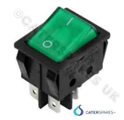 Sw69 Lincat Power Rocker Switch Green Neon Double Pole Lco Hb2 Hb3 Hb4 As3 As4