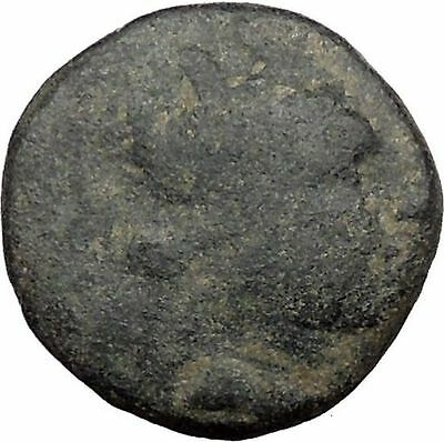 Laodikeia in Phrygia 200BC Authentic Ancient Greek Coin Goddess Lion i32745