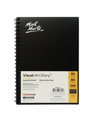 Mont Mart Visual Art Diary BLACK PAPER 140gsm A4