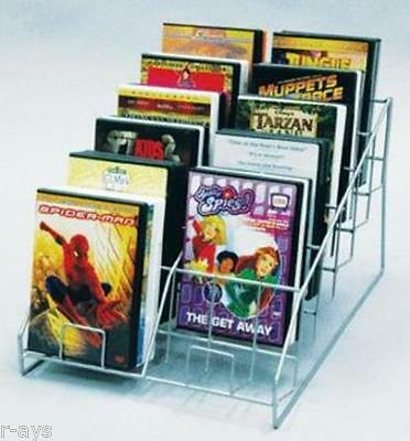 R-AYS (Silver) Retail 12 Pocket 6 Tier Counter Top CD/DVD Product Display Rack