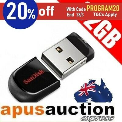 SanDisk Genuine 32GB Cruzer FIT mini USB Memory Flash Drive 32G Micro Stick Pen