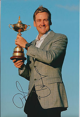 Ian POULTER In Person SIGNED Autograph 12x8 Photo AFTAL COA Holds Ryder Cup