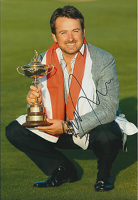 Graeme McDOWELL MBE SIGNED AUTOGRAPH 12x8 Photo AFTAL COA Ryder Cup WINNER