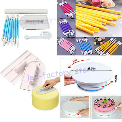 Mix Fondant Cake Stand Platform Cutters Pastry Sugarcraft Decorating Tools Kit #
