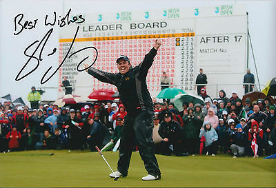 Shane LOWRY SIGNED AUTOGRAPH 12x8 Photo AFTAL COA Irish Amateur GOLF Winner