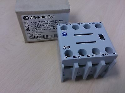 Allen Bradley 100-FA40 4 normally open auxiliary contact New ABCN0359