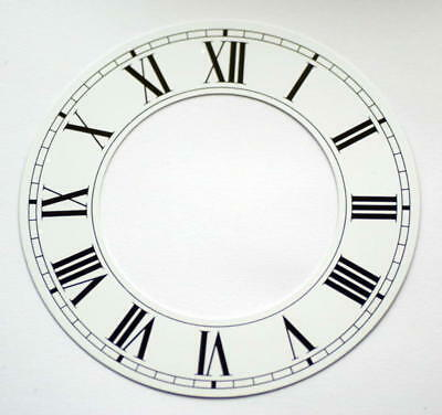 White clock CHAPTER RING roman numerals dial 103mm aluminium dial new clocks • £16.00