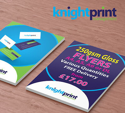 Leaflets / Flyers Printed on 250gsm gloss - From £17.00 - A4 / A5 / A6 / DL