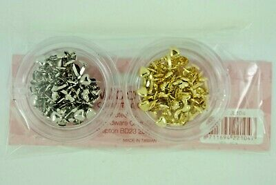WOODWARE - MINI Gold & Silver Brads in Stacking Pots