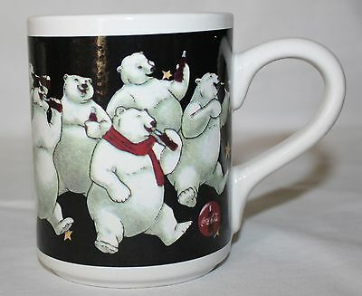 Coca Cola Mug Cup Polar Bear Party Gibson 1996 Large