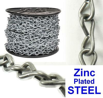 By-The-Foot Zinc Plated Steel Single-loop #12 JACK CHAIN for lighting support