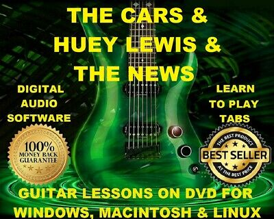 Huey Lewis & The News 53 & The Cars 57 Guitar Tabs Software Lesson CD & 18 BTs