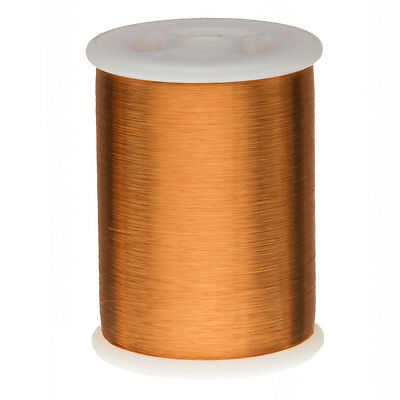 "42 AWG Gauge Heavy Formvar Copper Magnet Wire 1.0 lbs 49600' 0.0029"" 105C Amber"