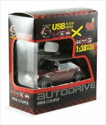 1:72 Mini Cooper S USB Flash Drive 8GB x 1:38 Scale Car Boxset (Red)