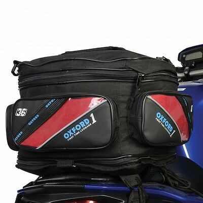 Oxford 1st Time Expander Tail Pack Motorbike Motorcycle Luggage Tail Bag 36L