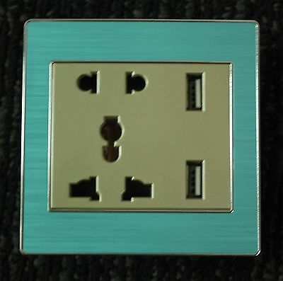 Durable Universal USB Charging Wall Socket Adapter 2 USB Port AC Outlet