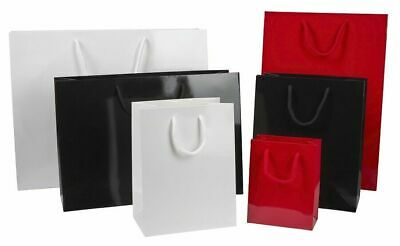 Luxury Gloss Paper Gift Carrier Bags With Rope Handles