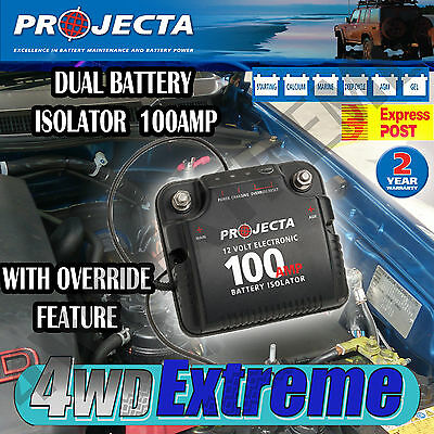 Projecta Dbc100 Dual Battery System Isolator Deep Cycle Agm, Auxillary 4Wd 4X4