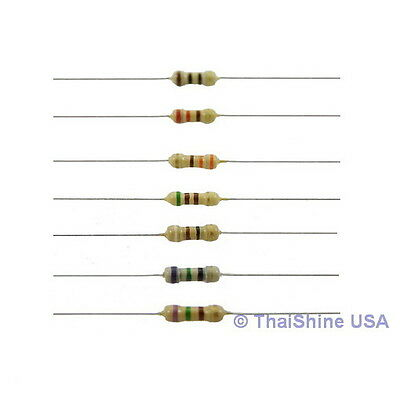 100 x Resistors 10 Ohm 1/4W 5% Carbon Film - USA SELLER - Free Shipping