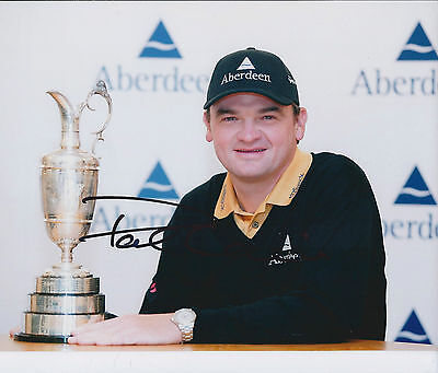 Paul LAWRIE SIGNED Autograph 10x8 Photo AFTAL COA Open Claret JUG Wnner