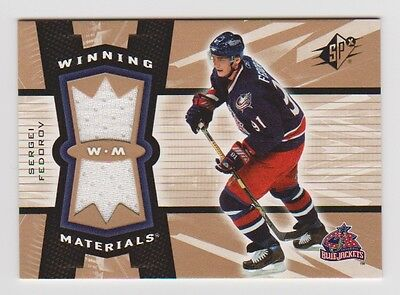 SERGEI FEDOROV 2006-07 SPx Winning Materials Game-Used Jersey # WM-SF