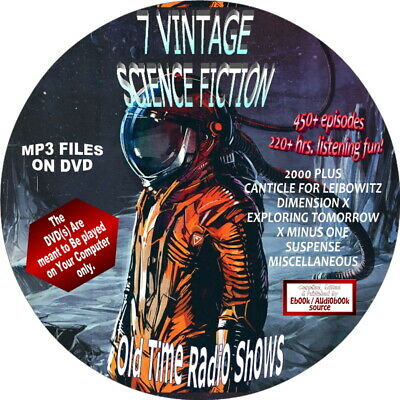 Science Fiction-550+ Old Time Radio Shows-Episodes-Mp3 Audiobook On Dvd