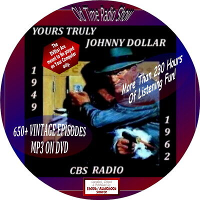 YOURS TRULY, JOHNNY DOLLAR-700+ OLD TIME RADIO SHOWS-EPISODES-AUDIOBOOK-mp3-DVD