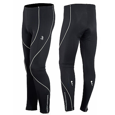 Mens Winter Cycling Tights Trouser Running Cycle Legging Cool Max Padded SM,L,XL