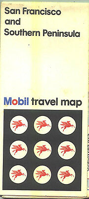1972 Mobil San Francisco Vintage Road Map