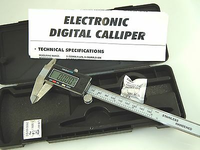 Electronic Digital Vernier Caliper Gauge Micrometer 6 Inch 150mm Stainless Steel