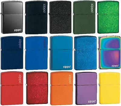 Genuine Zippo Lighters - Colours + FREE ENGRAVING + FREE P&P