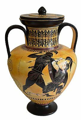 Achilles and Penthesileia - Ancient Greek Amphora Vase- British Museum Replica