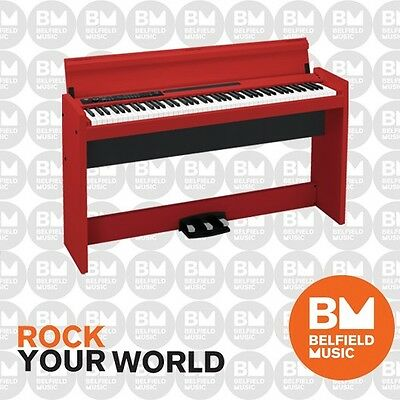 Korg LP380 Digital Piano Limited Edition Red Wooden Stand and Pedal LP-380 - BM