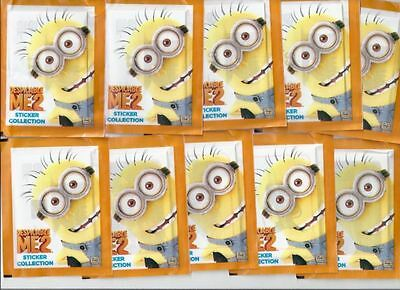 Despicable Me 2 Sticker Album Collection - 10 Packets of Stickers