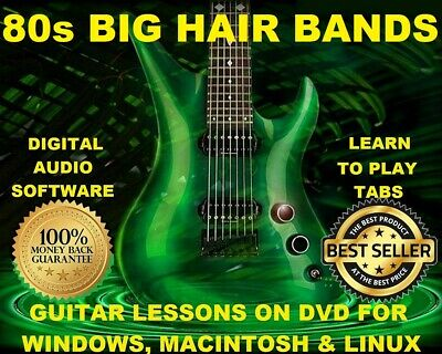 54 Big Hair 80s Rock Bands 1585 Guitar Tabs Software Lesson CD 72 Backing Trax