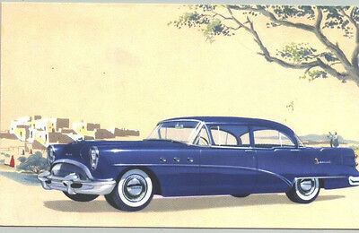1954 Buick Special Sedan Advertising Postcard