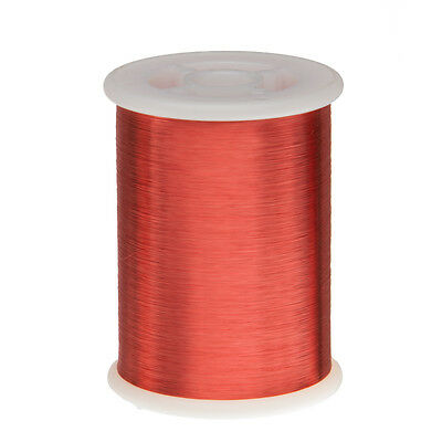 "42 AWG Gauge Enameled Copper Magnet Wire 8oz 25657' Length 0.0026"" 155C Red"